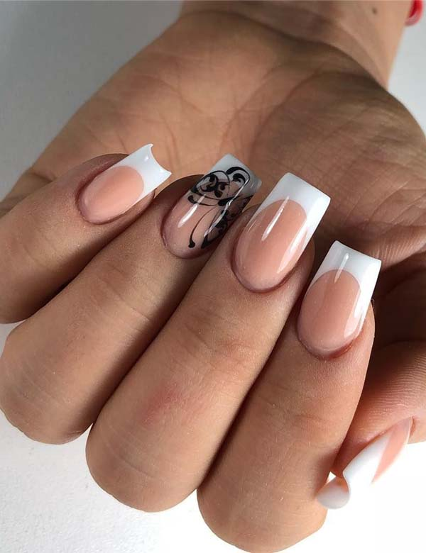 Creative Peach Colored Nail Designs in 2019