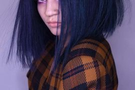 Graceful Dark Navy Blue Hair Colors for 2019