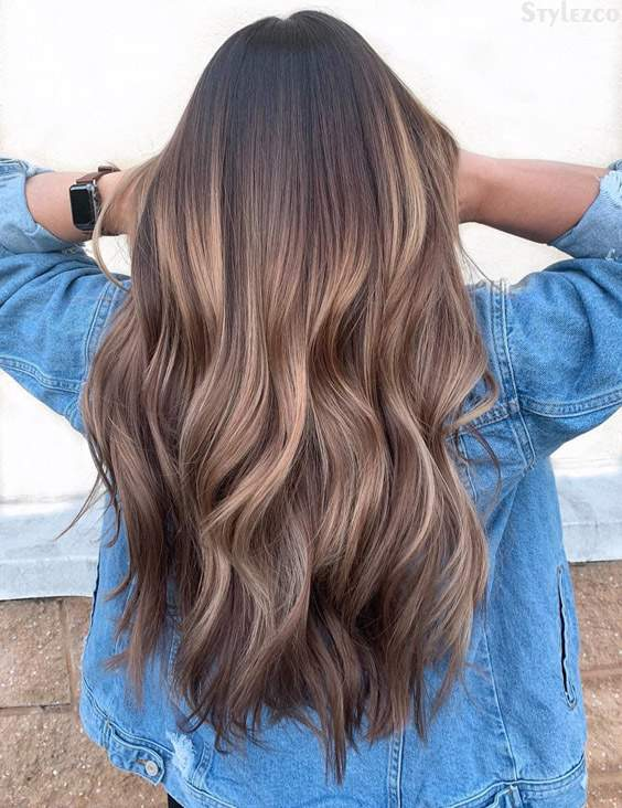 Melted Chocolate Caramel Hair Color Highlights for 2019