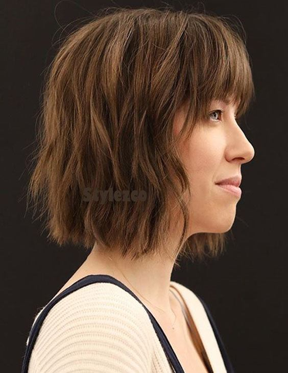 Prettiest Short Haircuts with Brown Shades for Girls