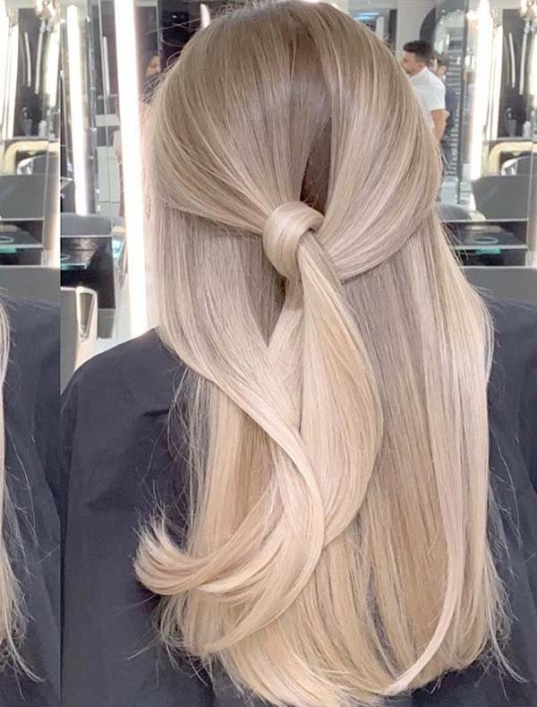 Fantastic Long Balayaged Knotted Hairstyles for 2019