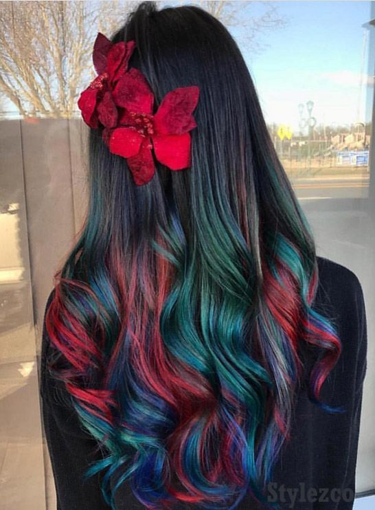 Gorgeous Rainbow Hair Color Ideas For Long Hair Stylezco