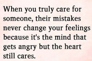 When You Truly Care for Someone