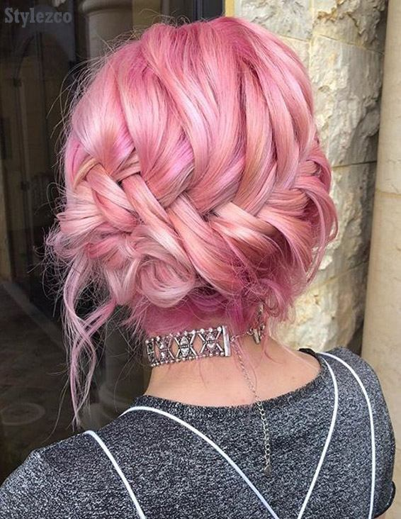 Cutest Pink Round Braid Hairstyle Trends for 2019