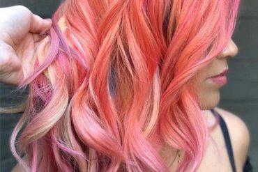 Lovely Pink Hair Color Styles for Medium Length Hair