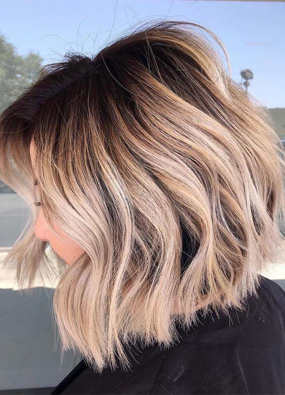 Perfect Bob Haircuts with Shadow-roots in 2019