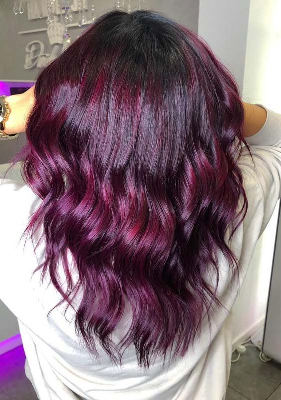 Stunning Purple Balayage Hair Color Styles for 2019 | Stylezco