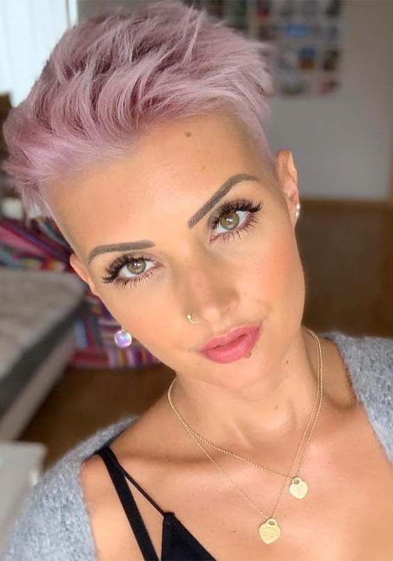 Purple Short Pixie Haircut Styles for 2019
