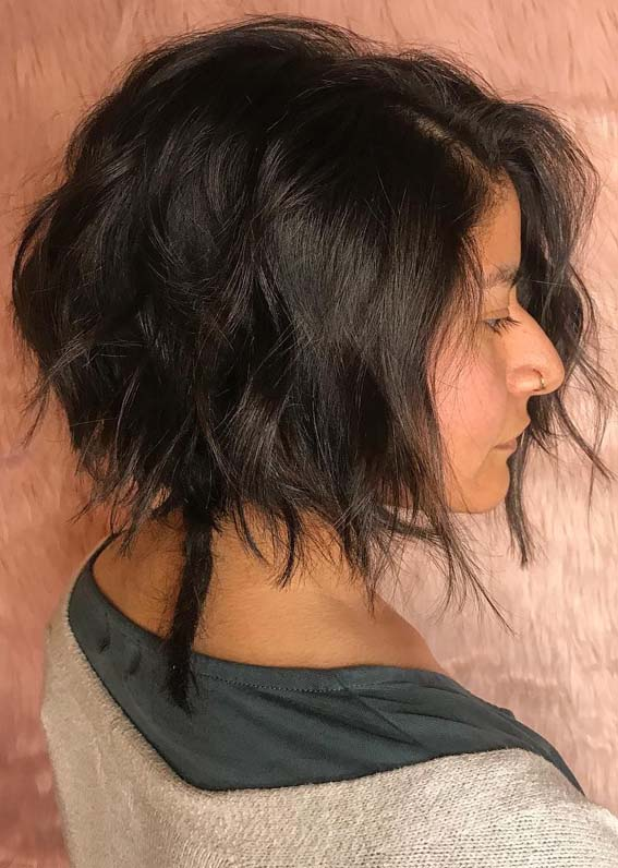 Textured Bob Haircuts in Year 2019