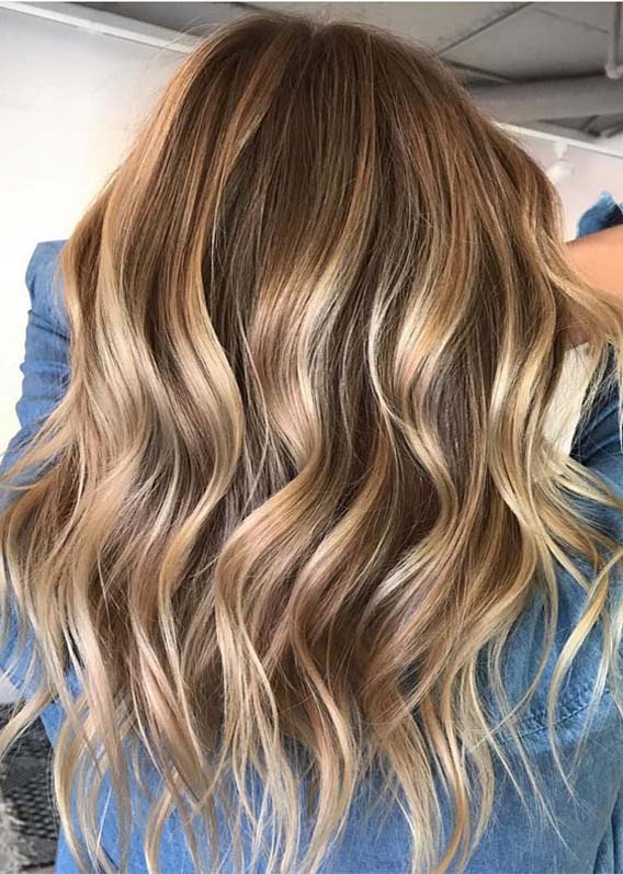 Amazing Blonde Balayage Textured Haircuts For Women 2019