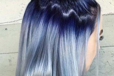 Blue Hairstyles with Top Bun Styles in 2019