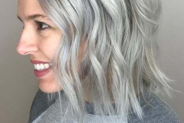 Chin Length Hairstyles for Gray Hair in 2019
