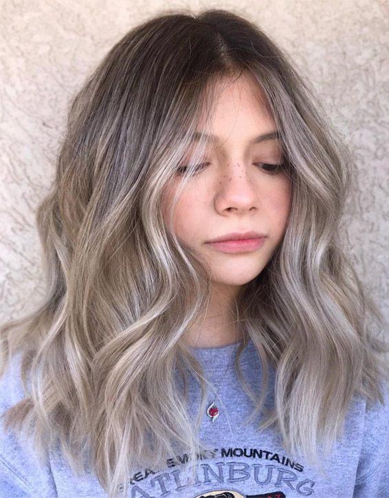 Medium Ash Brown Hair Color Highlights for 2019