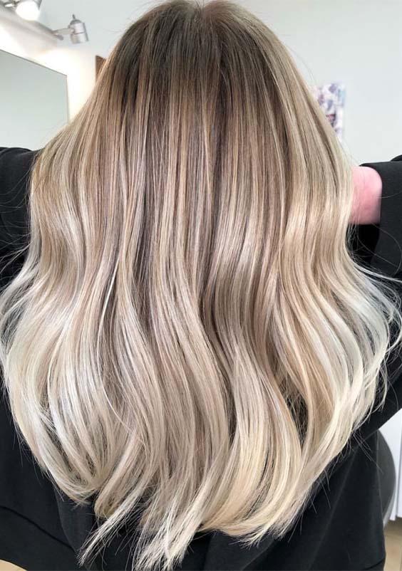Creamy Balayage Hair Color Highlights for 2019