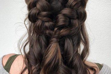 Double Dutch Perfect Braids Hairstyle for Medium Hair