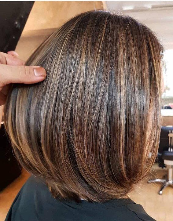 Elegant Brown Hair Shades Highlights For Short Hair Stylezco