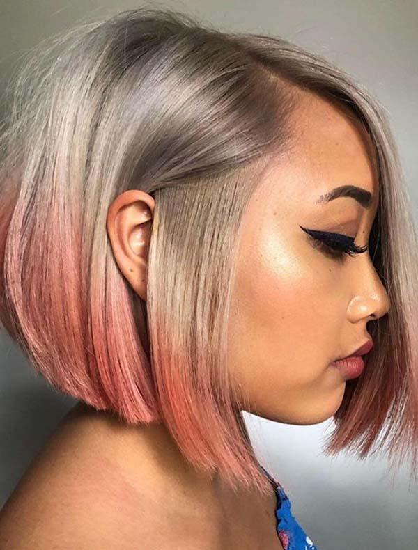 Modern Silver Melt Bob Haircuts for 2019