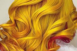 Beautiful vivid yellow hair color trends in 2019