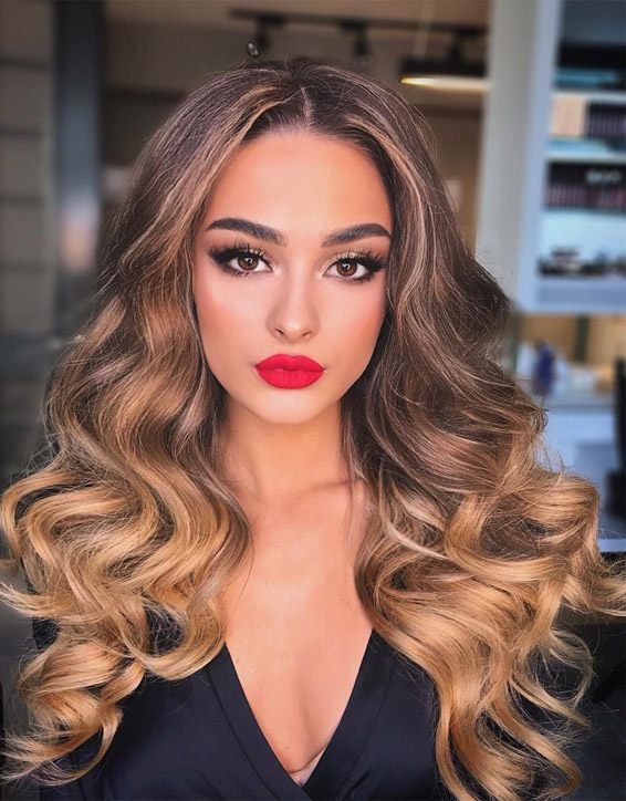 Gorgeous Brown Hair Shades & Long Waves In 2019