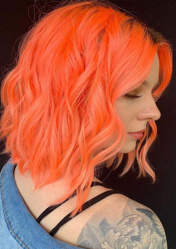 Bright Orange Hair Color Shades for Women to Try in 2019
