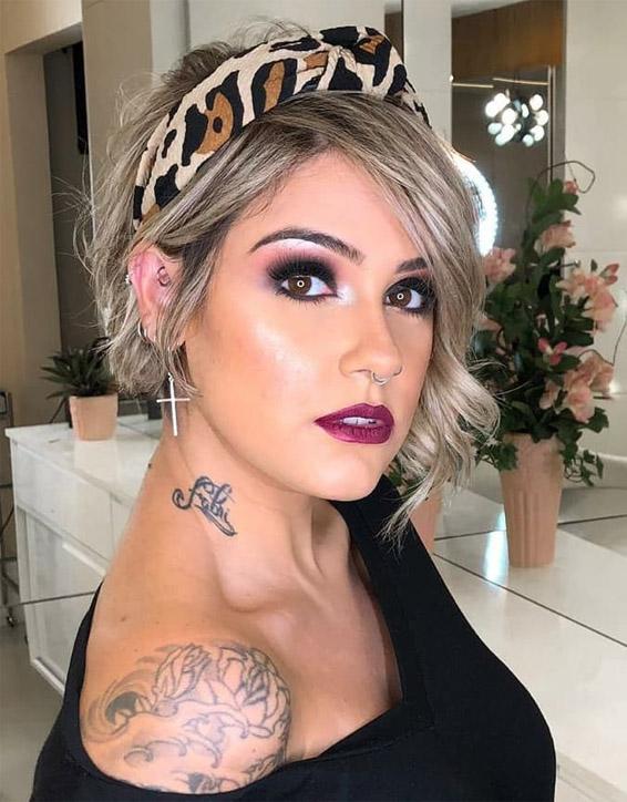 Unique Short Hair & Makeup Styles To Copy Now