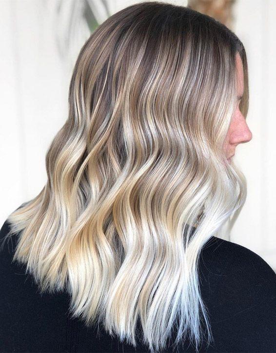 Platinum Blonde Hair Colors for Medium Length Hair