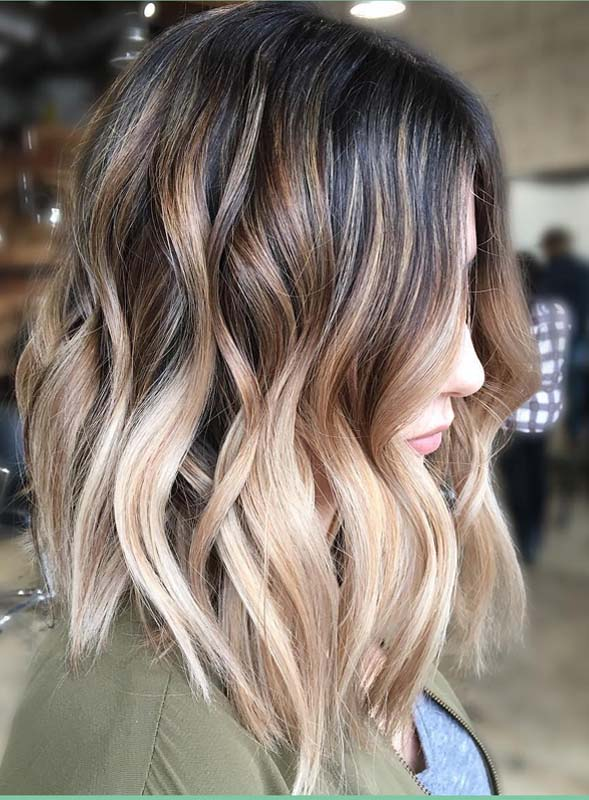 Gorgeous Balayage Hair Colors with Dark Roots