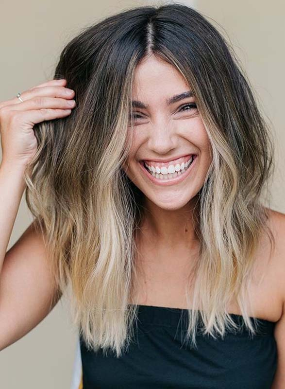 Latest Balayage Hair Colors with Dark Roots for 2019