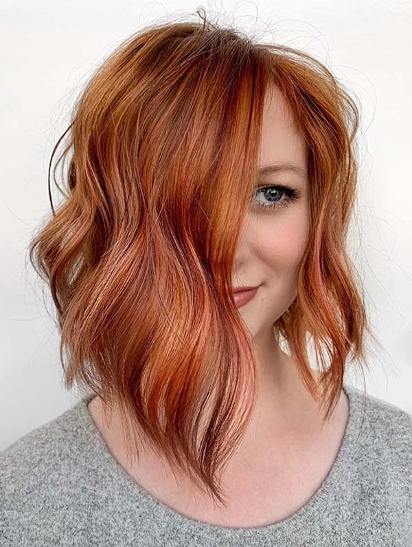 Red Bob Haircuts and Hairstyles for Women 2019